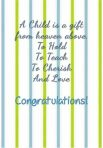 Set of 3  Baby Congrats Cards